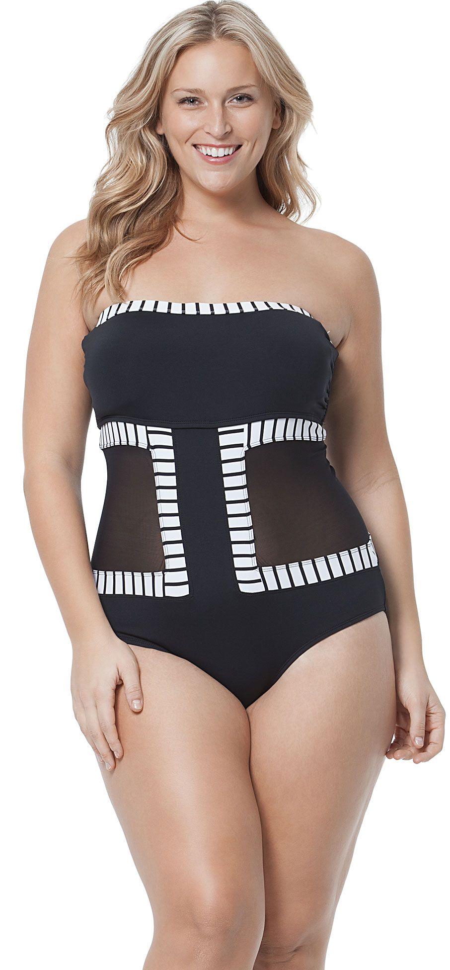 fe47df2ab11 Anne Cole Plus Mesh Bandeau   Plus Size   Plus Size Swimwear 웃☀웃 ...