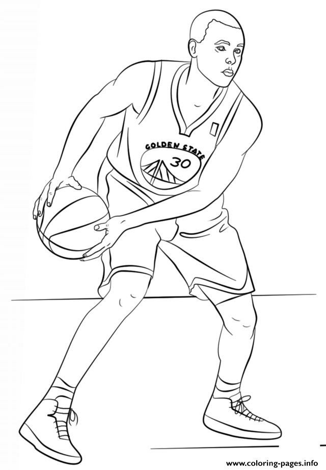 Print Stephen Curry Nba Sport Coloring Pages