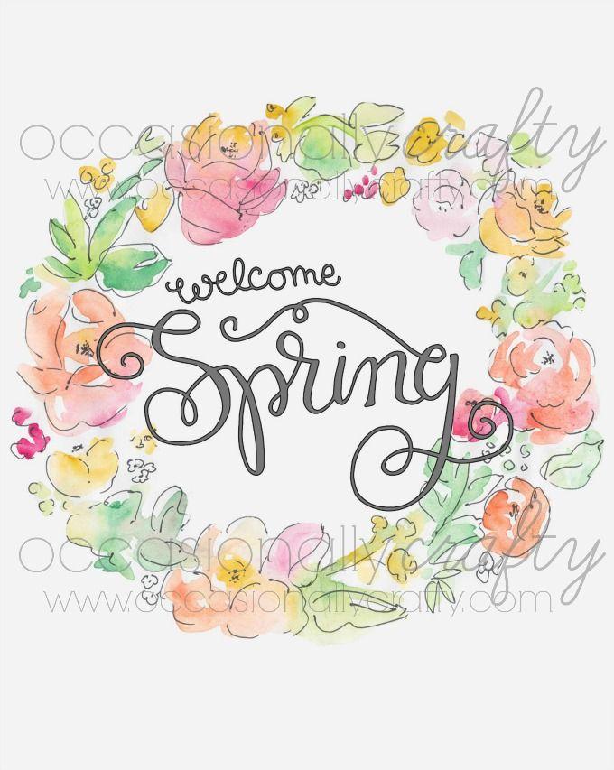 Free Spring Printable DIY Home Decor Spring sign, Wreath