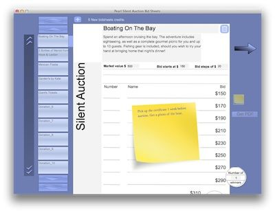 A Free App For Creating Bid Sheets Pearl Silent Auction Bid Sheet