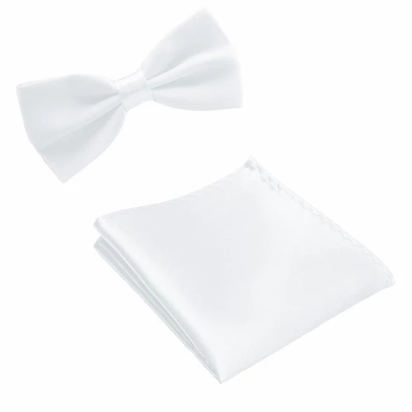 Neck Tie Set Bow Ties for Men Pocket square Wedding Polyester Butterflyeosegal #pocketsquares