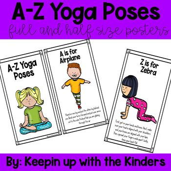 az yoga poses full size and half size posters  yoga for