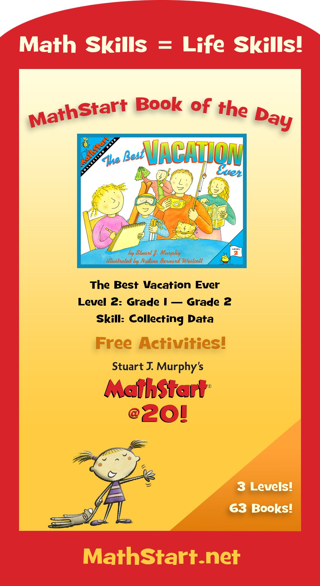 Mathstart Book Of The Day The Best Vacation Ever