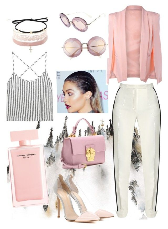 """""""Candy girl 🍬"""" by beelovem ❤ liked on Polyvore featuring Elie Saab, Kain, Charlotte Russe, Magdalena Frackowiak, Gianvito Rossi, Dolce&Gabbana, Miu Miu and Narciso Rodriguez"""