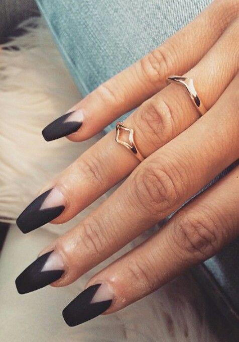 Black matte nail design nails pinterest matte nails nail black matte nail design prinsesfo Image collections