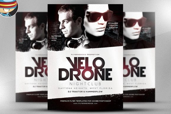 Velo Drone Psd Flyer Template By Flyerheroes On Creativemarket