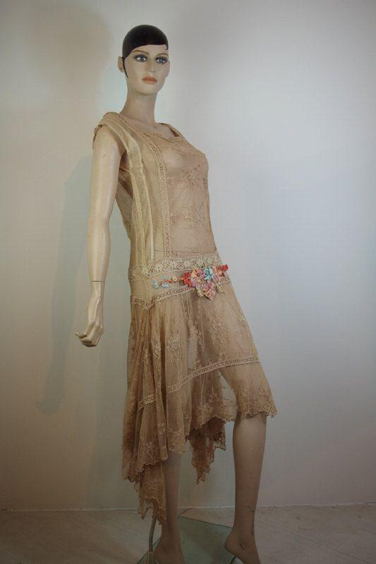 original 1920s french flapper dress