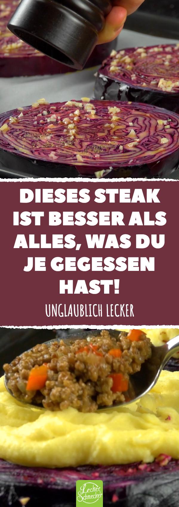 Diese 4 Steaks sind eine Wucht! Wenn du das fertige Topping siehst, rastest du richtig aus!
