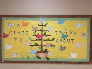 Mrs. Glosson's Pinterest inspired bulletin board