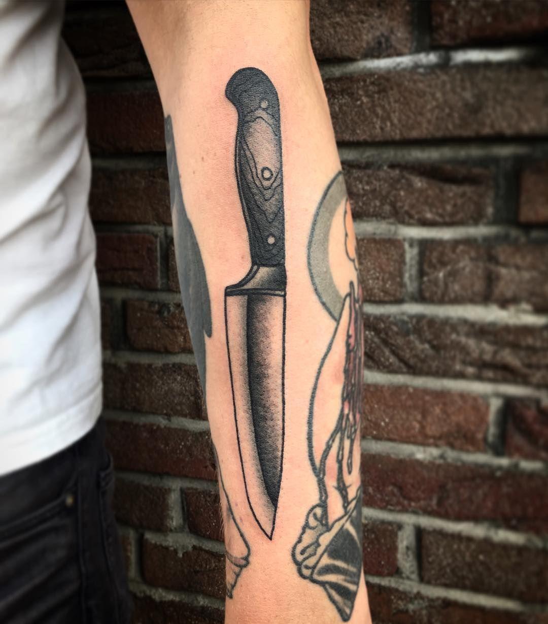 chef 39 s knife tatuajes tattoos pinterest knives tattoo and tattoo art. Black Bedroom Furniture Sets. Home Design Ideas