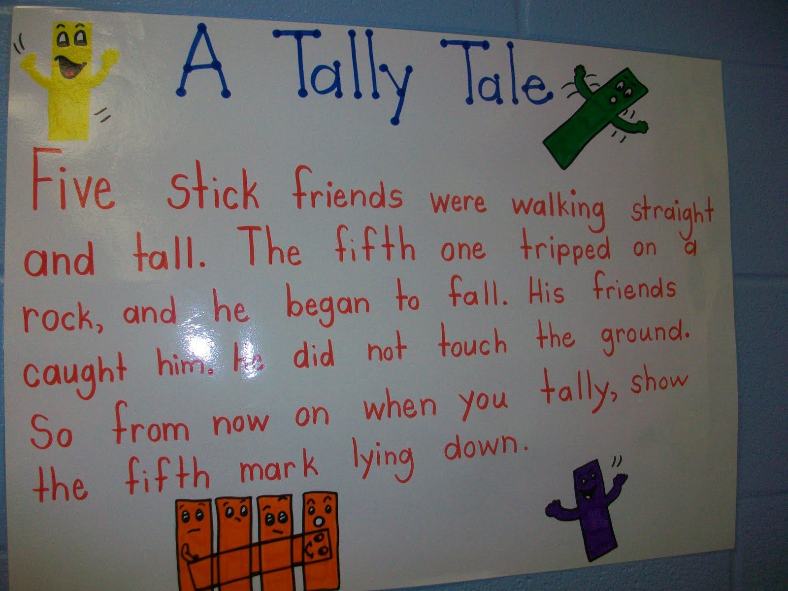 Tally Charts Grade 1 Worksheet