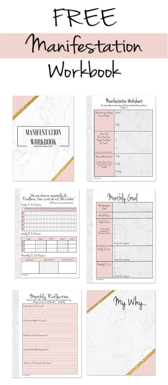 Ultimate Freebie Friday Manifestation Workbook How To
