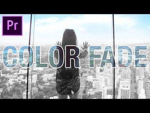 4) Adobe Premiere Pro: COLOR to Black & White Fade Effect
