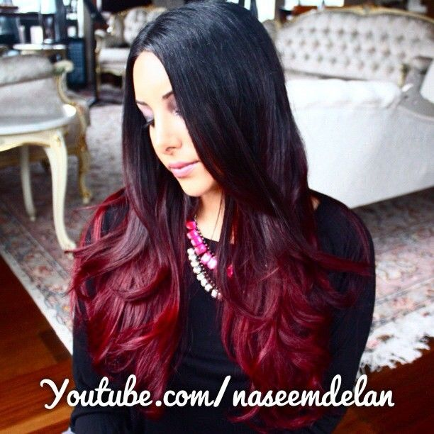 DIY Red Ombre Hair Tutorial... hopefully if I dye over my brown/blonde ombre it will look like this
