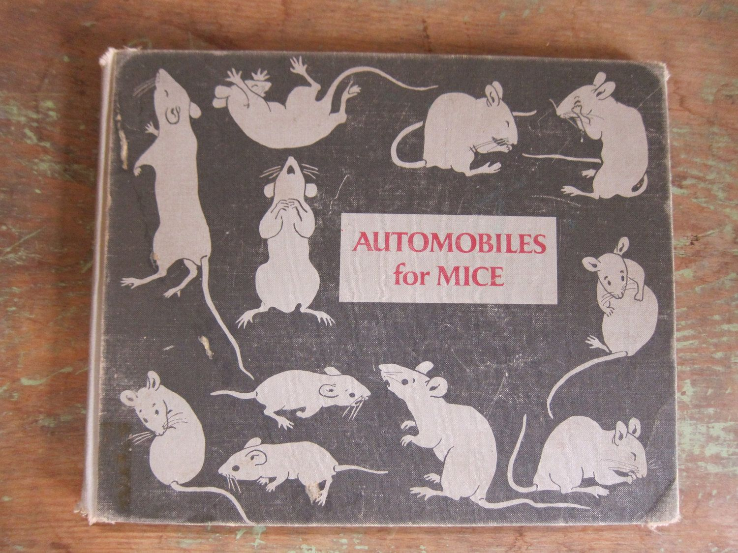 Vintage Children's Book, FAB Cover Graphics, Automobiles for Mice by Marie Hall