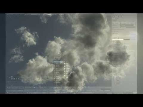 Blender, Cycles - Volumetric Clouds with Smoke Sim