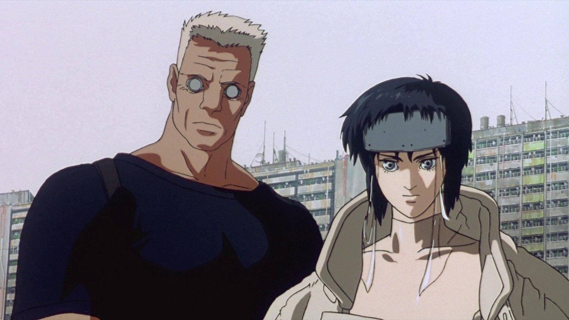 Ghost In The Shell Motoko Kusanagi Batou Ghost In The Shell Anime Ghost Anime