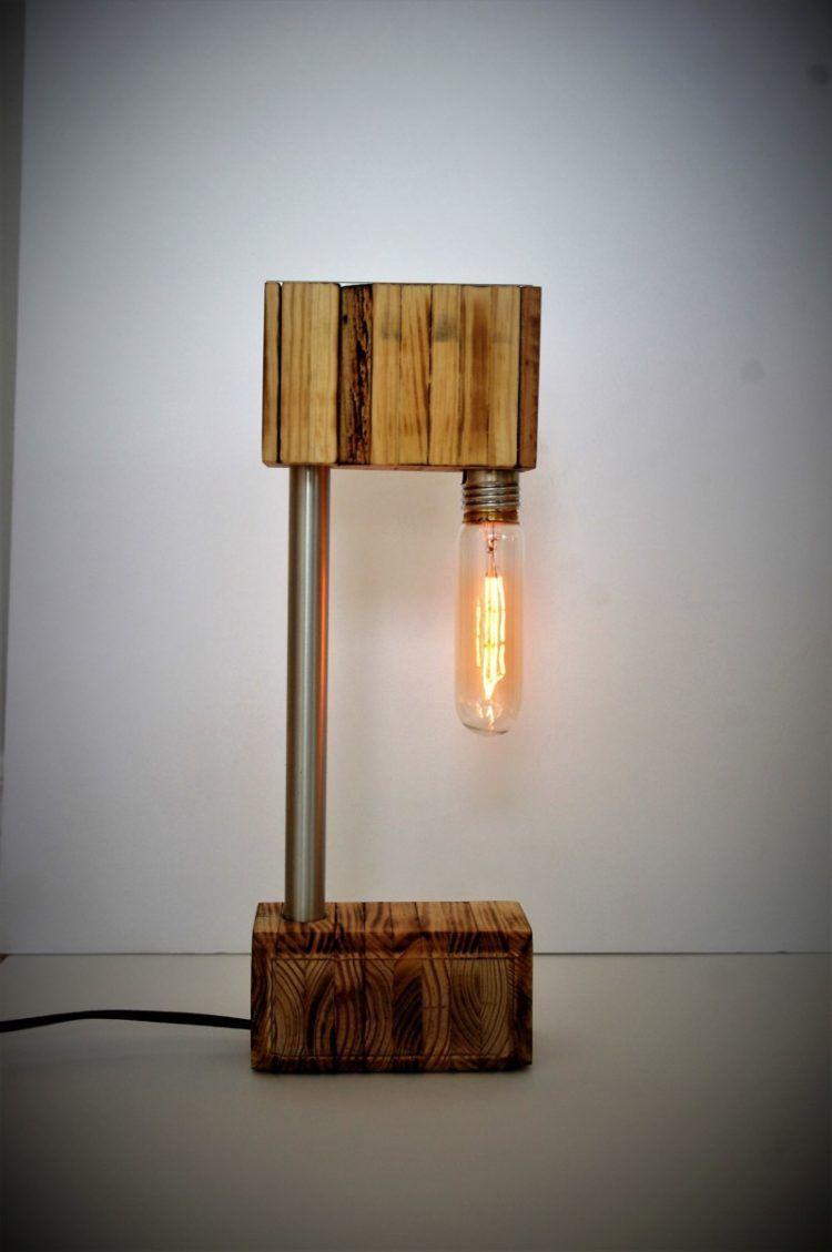 The recycled wooden desk lamp свет лампы pinterest wooden desk