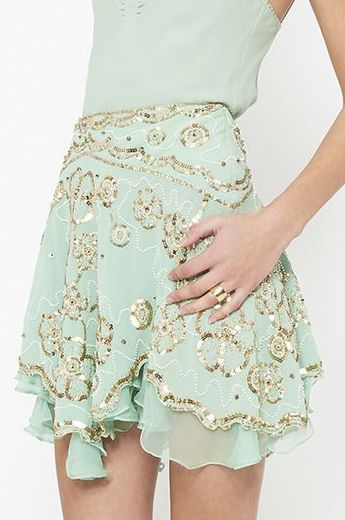 mint.quenalbertini: Mint & Gold Skirt