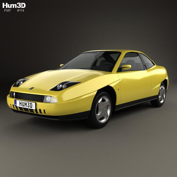 Fiat Coupe Pininfarina 1998 3d Model From Hum3d.com