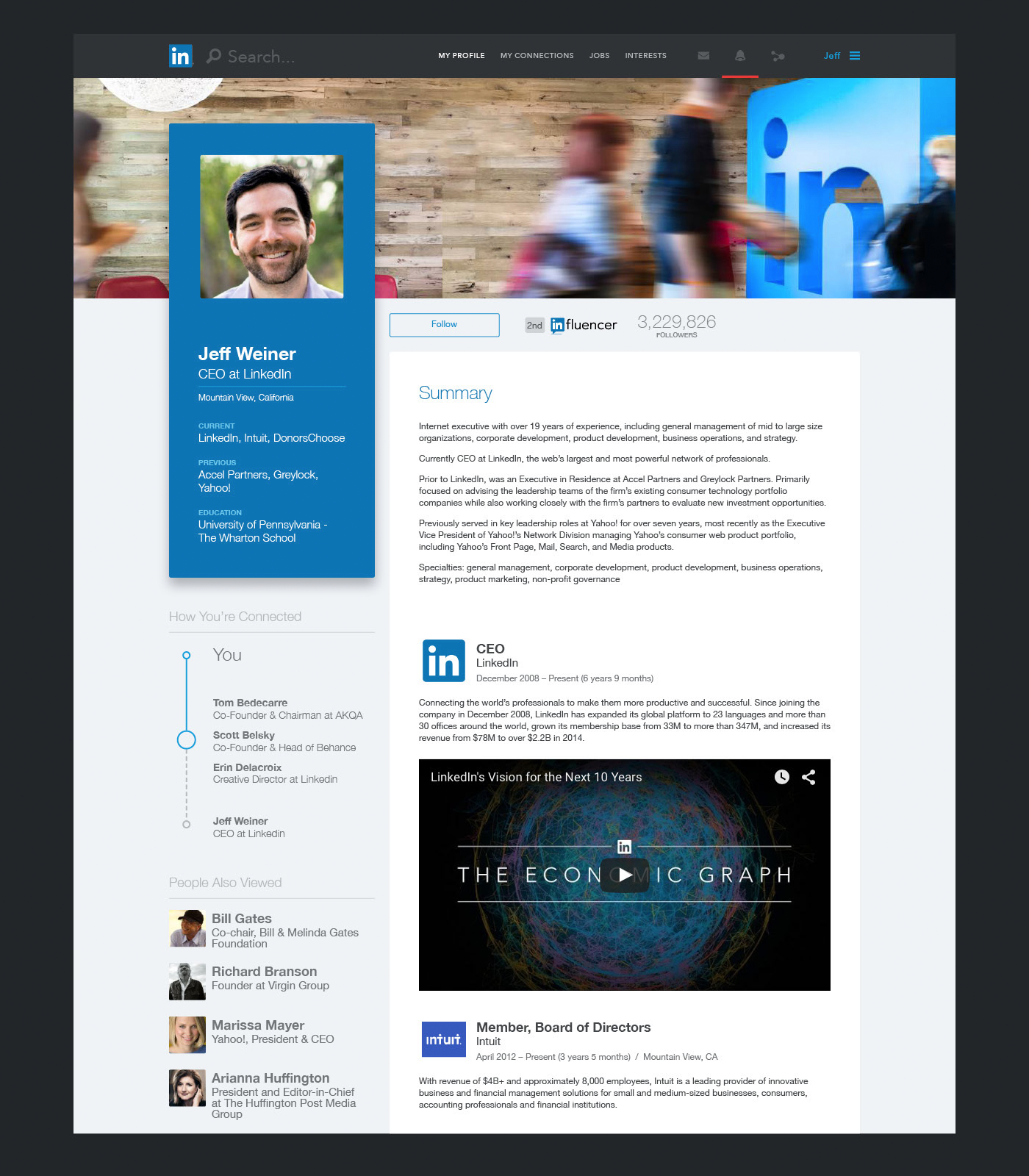 Linkedin Redesign Concepts Web Design Tips Redesign Design Consultant