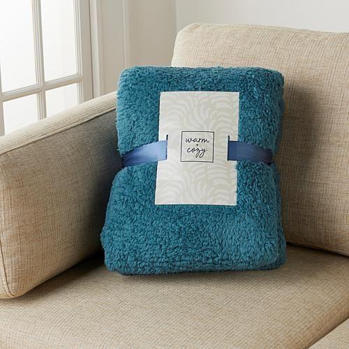 Warm & Cozy Fluffy Sherpa Blanket - Tan - Twin