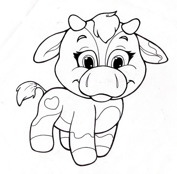 Baby Cow Coloring Pictures   The Coloring pages   Pinterest