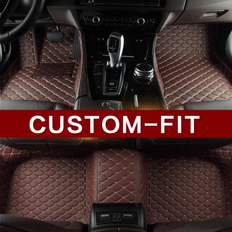 Dark Brown Leather Car Mats Set Car Floor Mats Custom Car Floor Mats Floor Mats