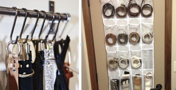 Clever Belt Storage Ideas Belt Storage Storage Shoe Rack