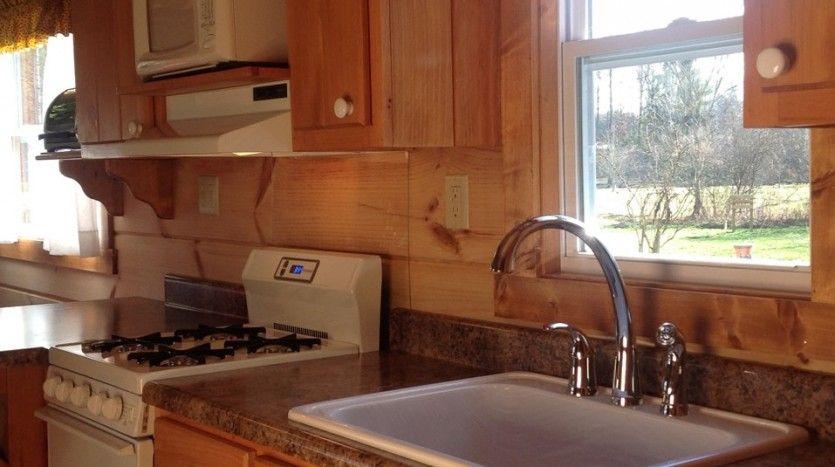 Standard fiberglass shower tub unit (white).  #TinyHouseforUs