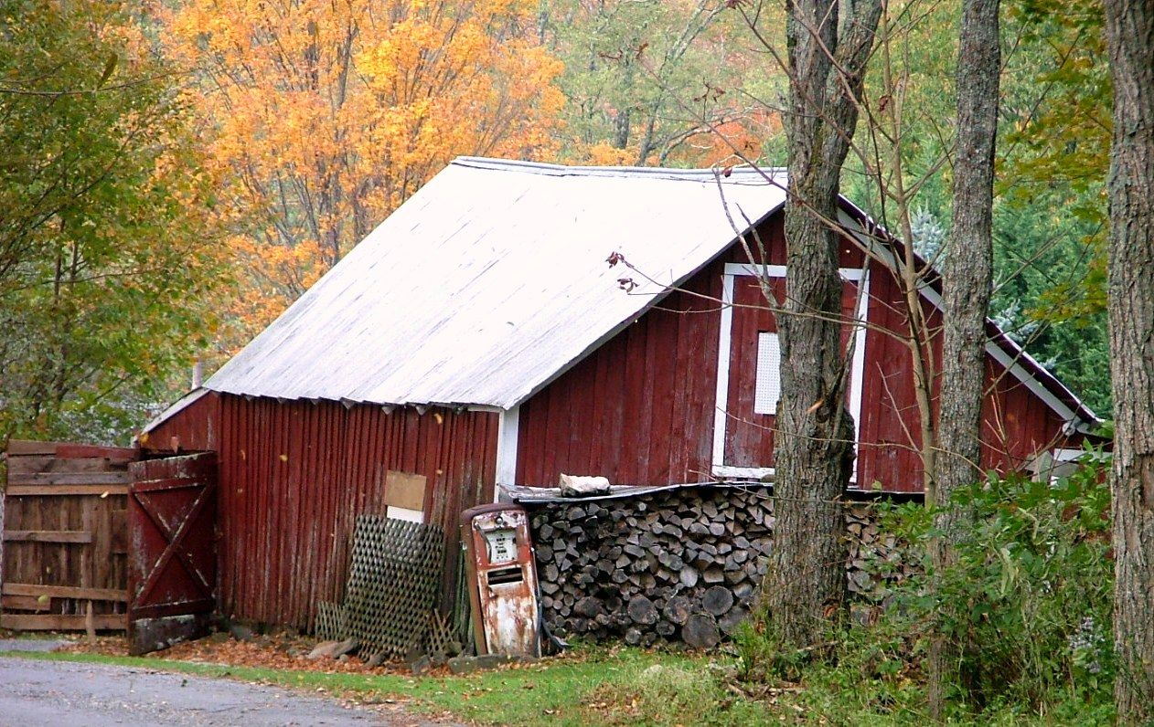 Antique Gas pump, old barn and Fall   how cool in Roan