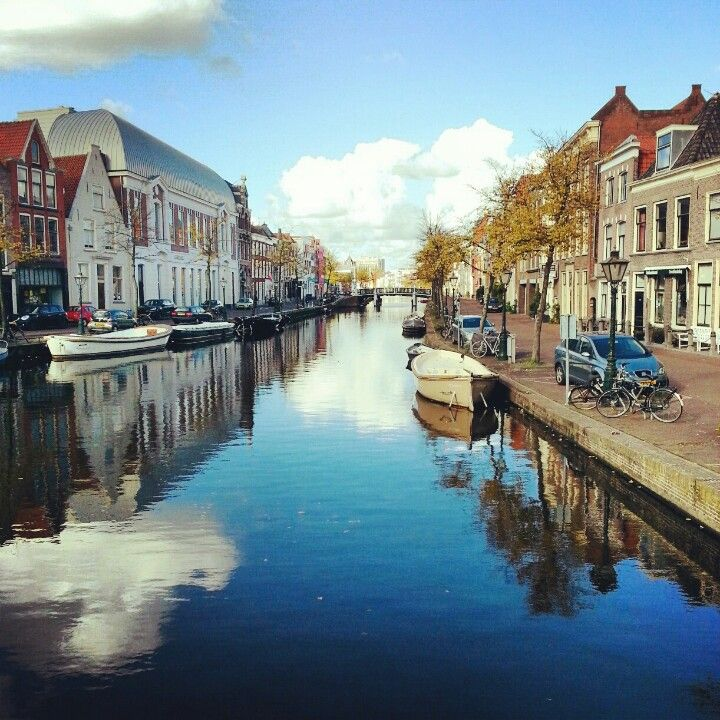 Canal, reflections, Holland