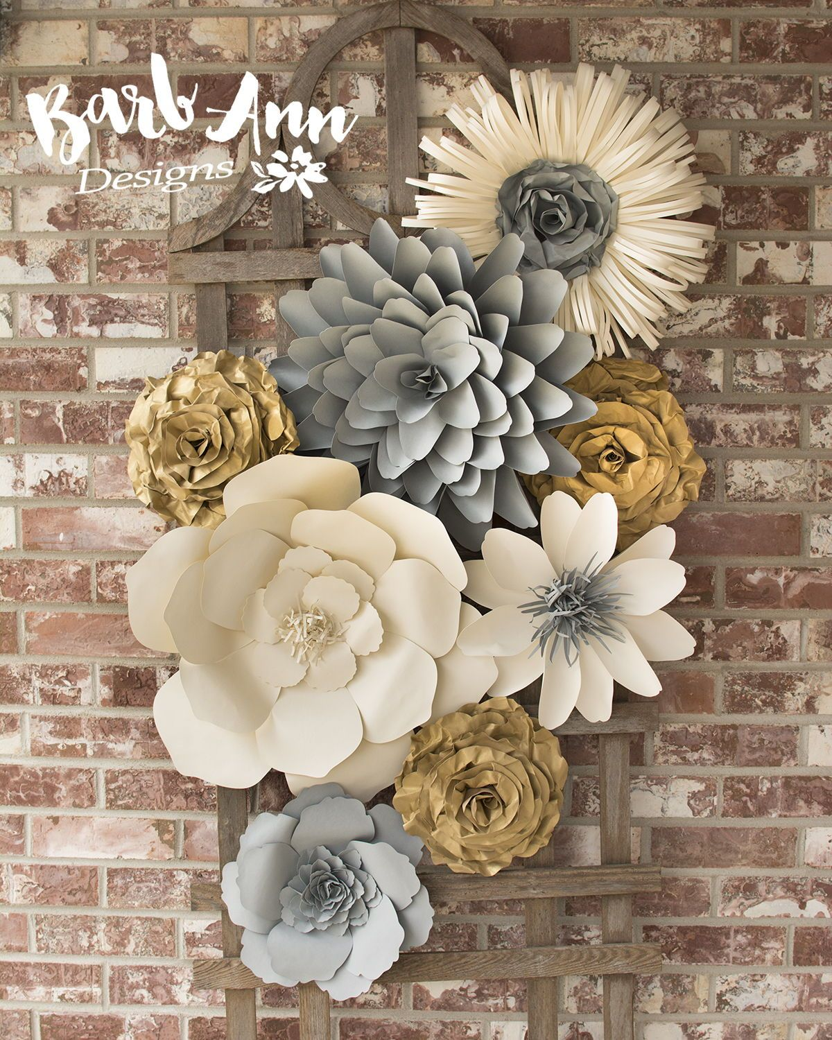 Gorgeous paper flowers  flower wall  floral wall  paper art