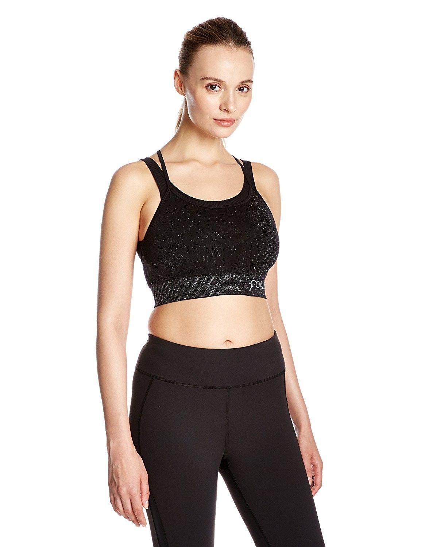 Women Yoga Bras Medium Impact Push Up Padded Sports Bras Crisscross Yoga Tops C3