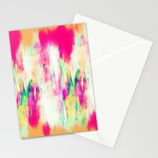 Electric Haze Stationery Cards by Amy Sia | Society6