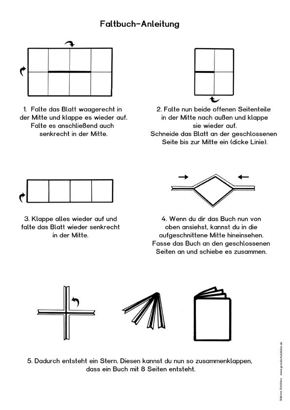 Faltbuch Anleitung (kostenloses Arbeitsblatt) | Schule | Pinterest | Uni