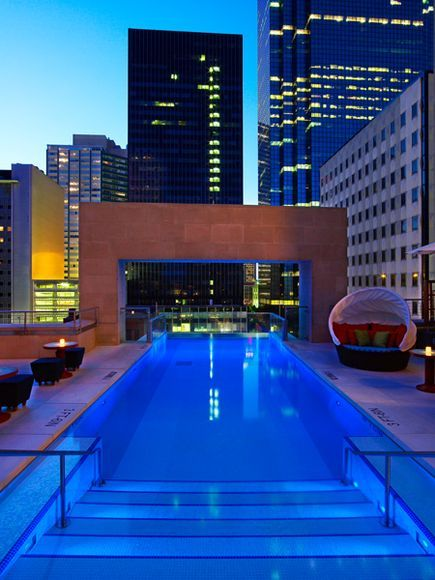 Joule Hotel Dallas That Pool Hangs Eight Feet Off Of The Building 10