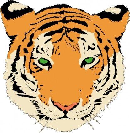Tiger Clip Art Animal Cross Stitch Patterns Tiger Face Tiger