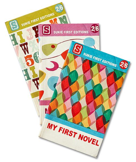 A novel idea. Keep their first literary efforts safe in these vintage-inspired notebooks.