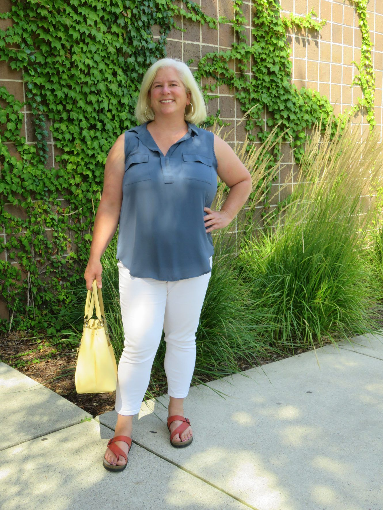 Summer Errand Outfit #Appleshape #Plussize #Over40 #Summerstyle