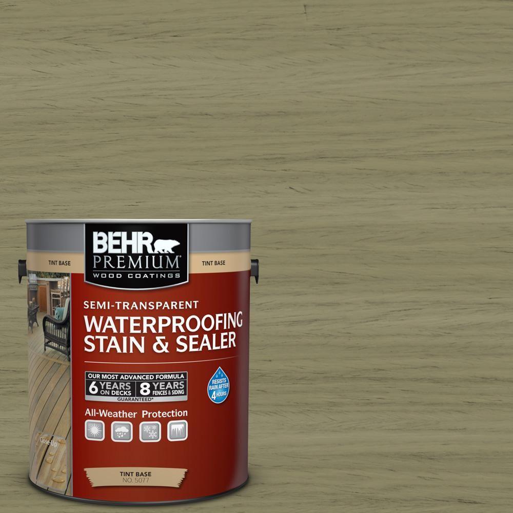 Behr Premium 1 Gal St 151 Sage Semi Transparent Waterproofing
