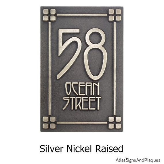 Vertical Address Plaque For 2 Number Craftsman Mission Style Etsy In 2020 Address Plaque American Craftsman Style American Craftsman