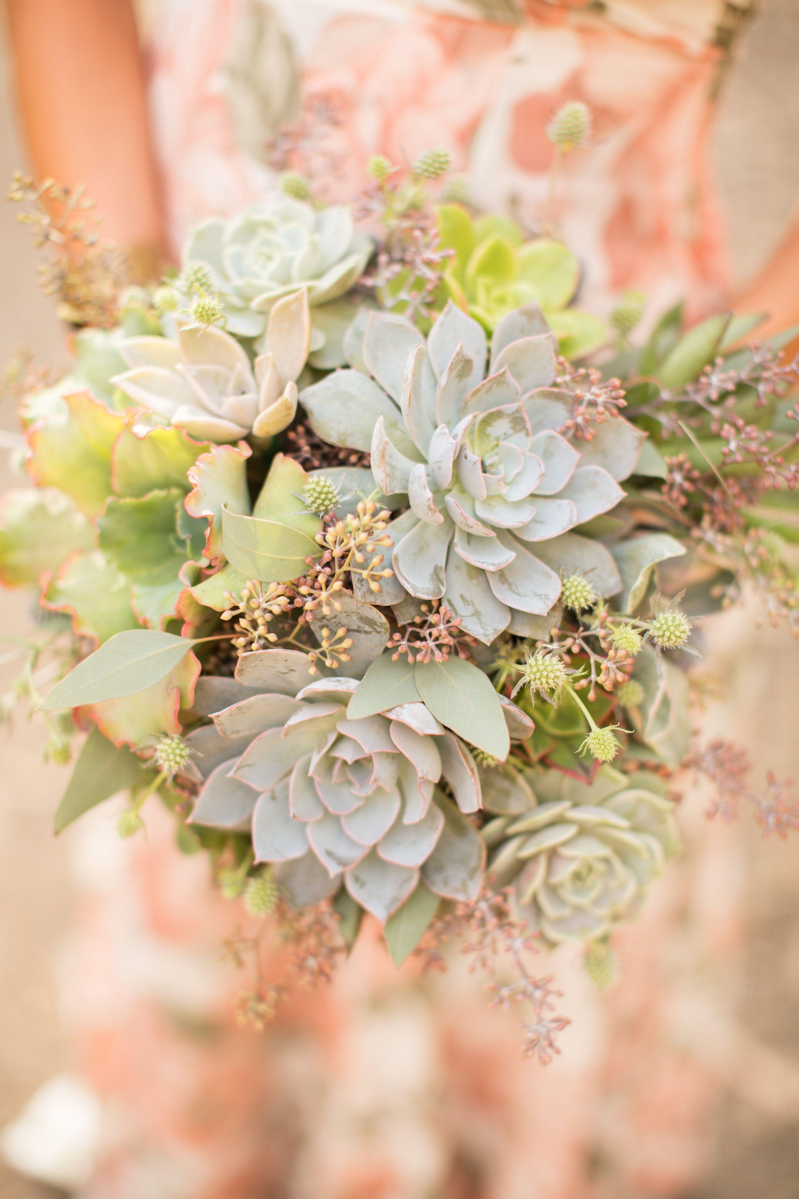 Succulent bouquet by ella & louie Wedding flowers