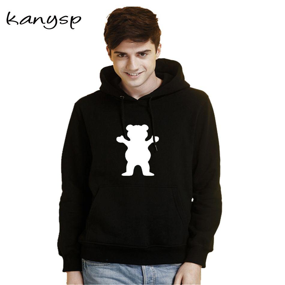 Cool Animal Men Fleece Cool Graphic Hoodies Print Novelty Sweatshirt S-3XL Navy,