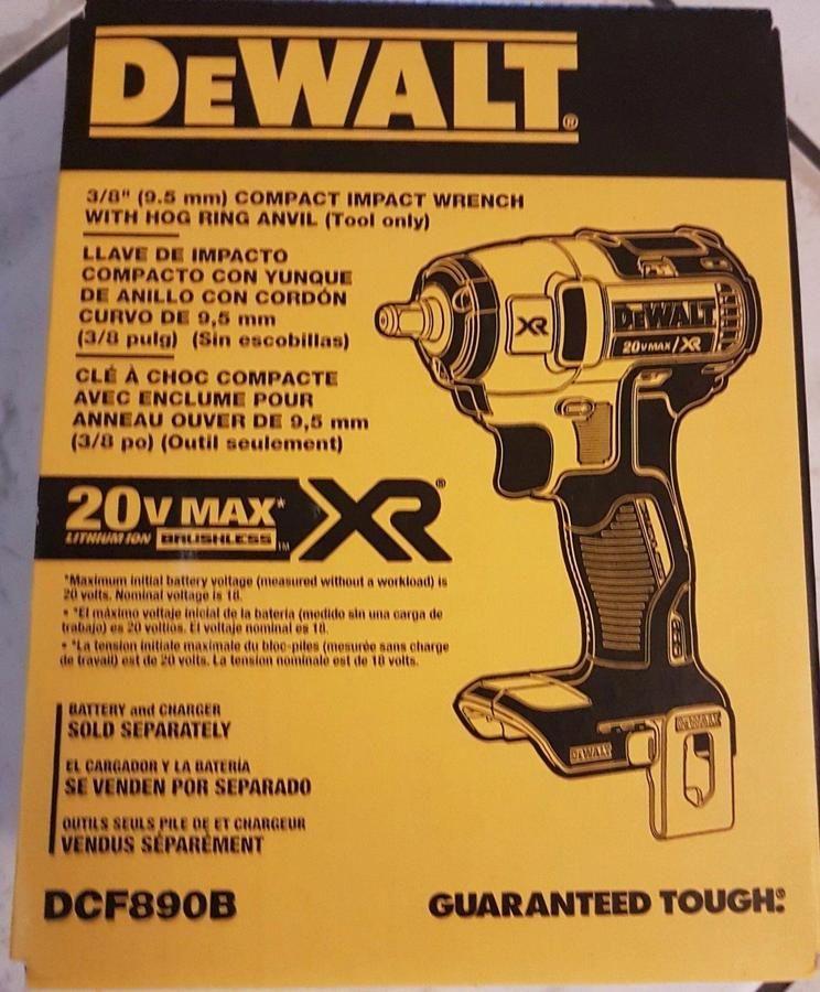 Dewalt 20v Max Xr Brushless 3 8 Impact Wrench Bare Tool Dcf890b 885911491679 Ebay Quot