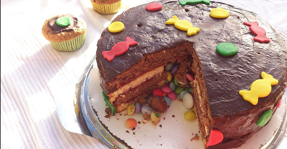 Photo of Pinata-Kuchen mit süßer Überraschungsfüllung für den Kindergeburtstag. Reze…