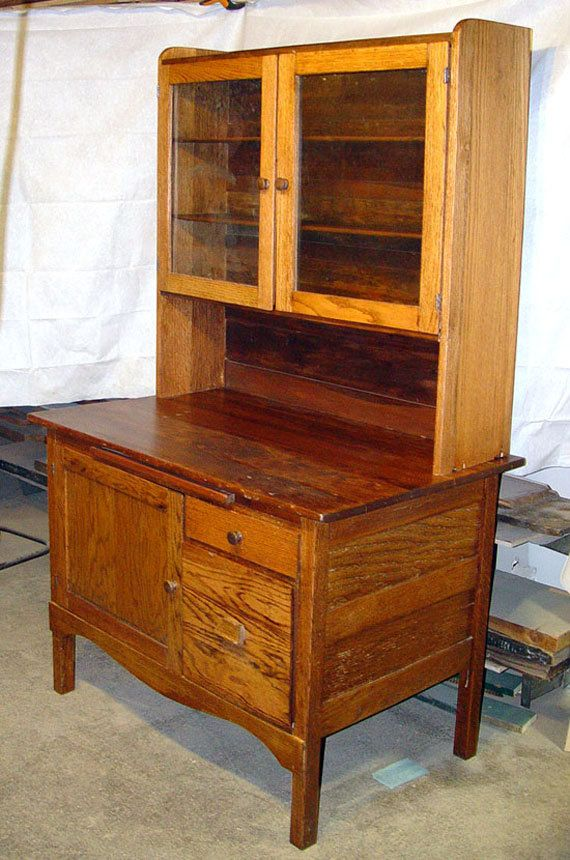Hoosier style kitchen cupboard cabinet, 1880s, primitive ...