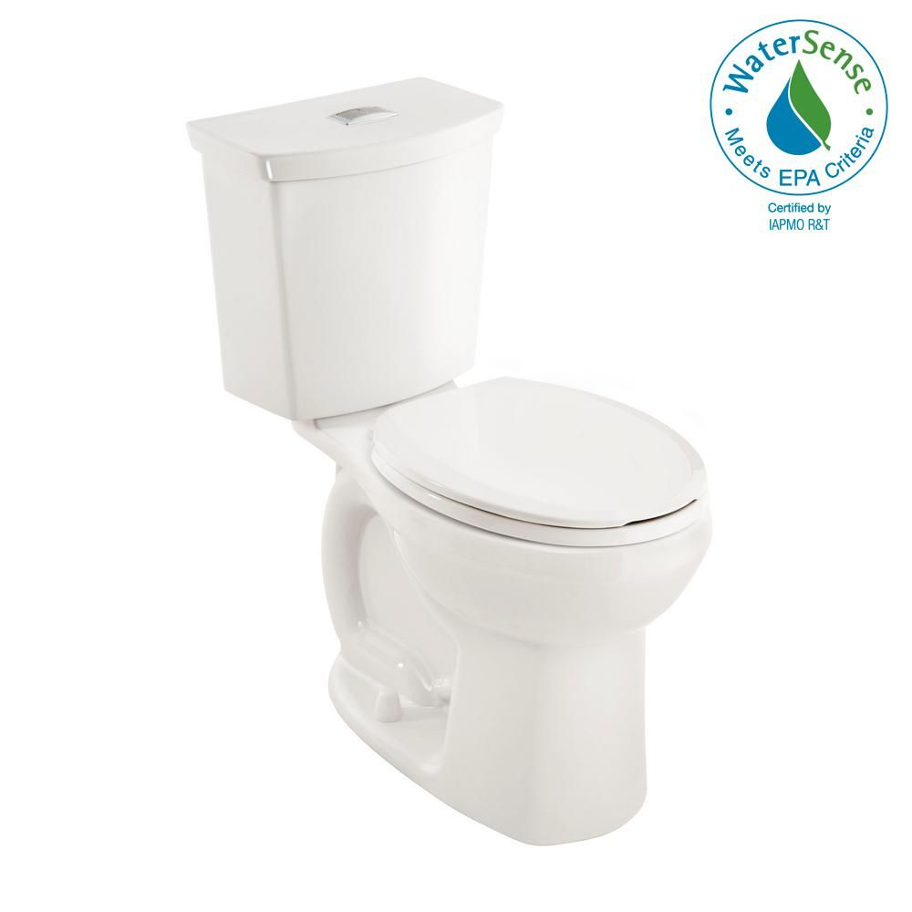American Standard Cadet 3 Tall Height 2 Piece 1 0 1 6 Gpf Dual Flush Round Toilet With Slow Close Seat In White 3380ba216st 020 The Home Depot Dual Flush Toilet Toilet American Standard