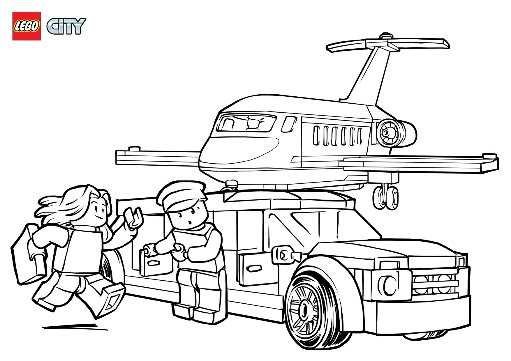 airport vip service | lego® coloring sheets | pinterest - Lego City Airplane Coloring Pages