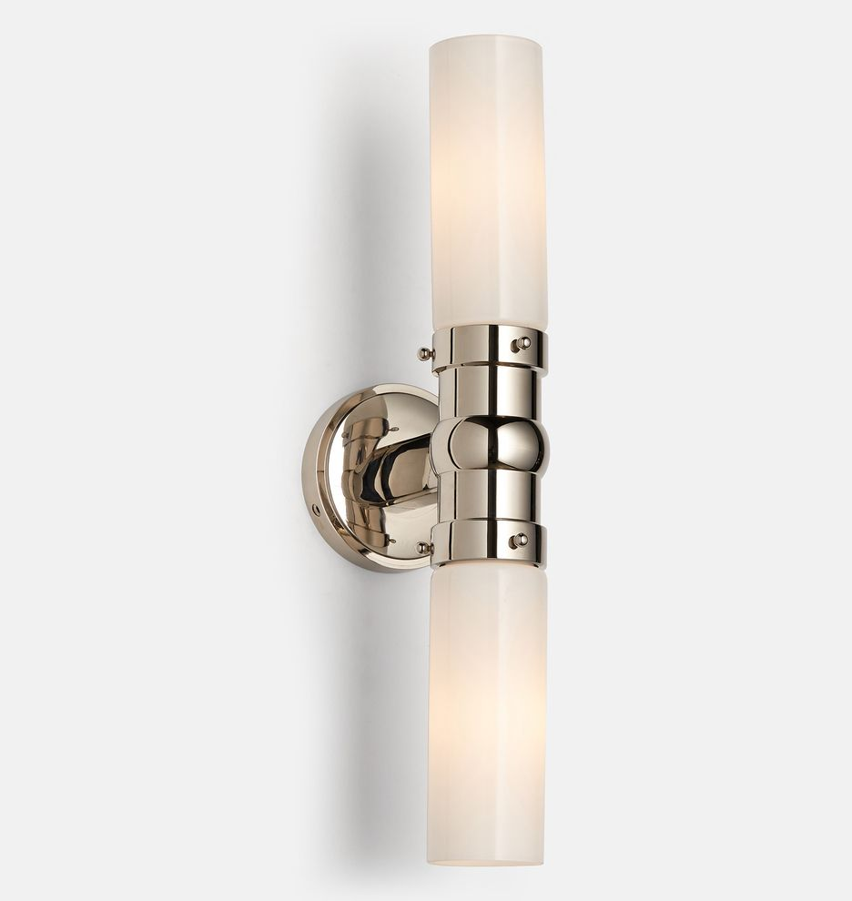 Graydon Double Wall Sconce Rejuvenation Double Wall Sconce